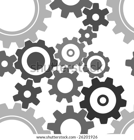 seamless cogwheel pattern - factory background - stock vector