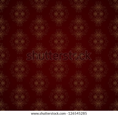 Seamless color retro pattern background - stock vector