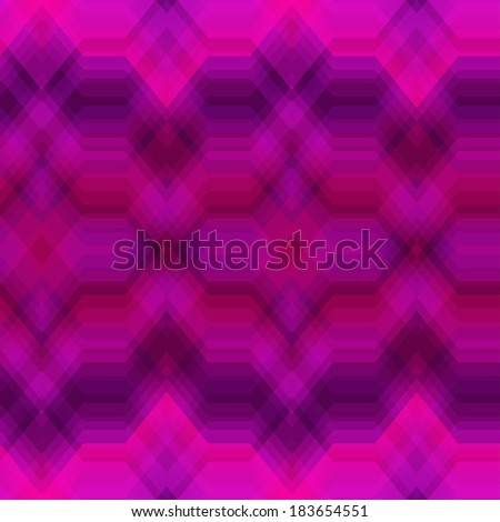 Seamless Colored Abstract Retro Striped Background, Fashion Zigzag Pattern of Purple and Red Stripes - stock vector
