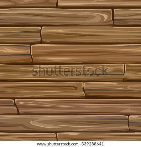 Seamless colored vector background of rectangular wood planks. - stock vector