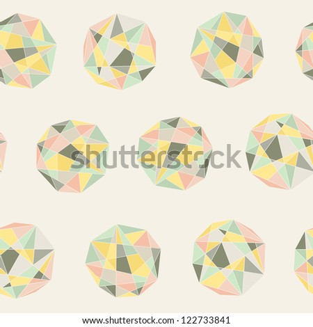Seamless colorful abstract crystal background - stock vector
