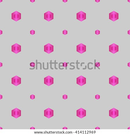 Seamless colorful abstract modern pattern created from circles