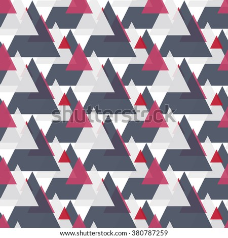 Seamless colorful abstract modern pattern created from triangle intersections