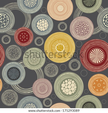 Seamless colorful abstract pattern - stock vector