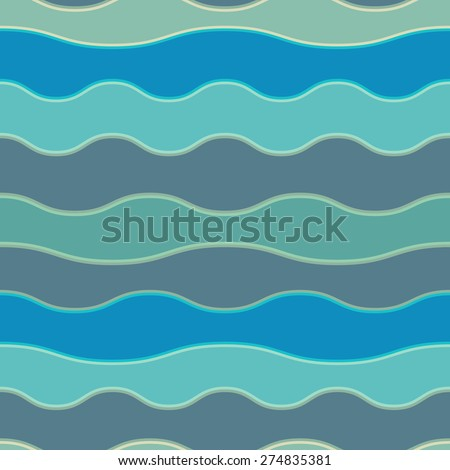 Seamless colorful background made of way blue lines imitating water pattern