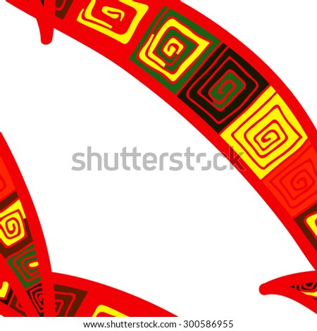Seamless colorful background with ornamental ethnic motifs. Vector illustration. - stock vector