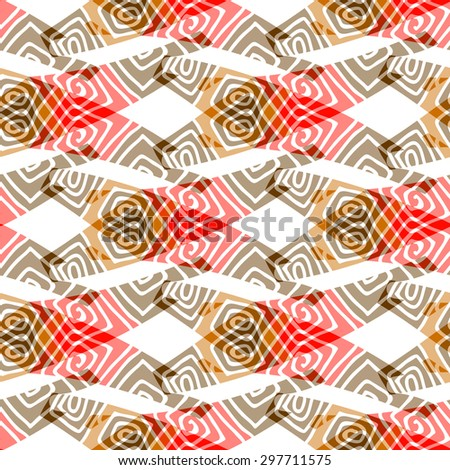 Seamless colorful background with ornamental motifs. Vector illustration. - stock vector