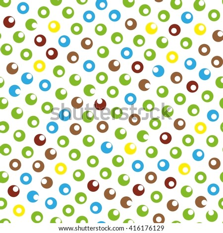 Seamless colorful circle abstract pattern - stock vector