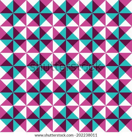 Seamless colorful geometric background