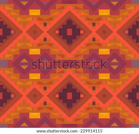 Seamless colorful geometric ethnic pattern