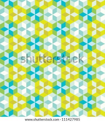 Seamless colorful geometric pattern. Vector art illustration. - stock vector