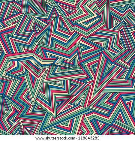 Seamless colorful geometric pattern. Vector illustration - stock vector