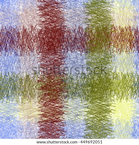 Seamless colorful grunge striped,checkered weave pattern for towel,plaid,napkin  - stock vector