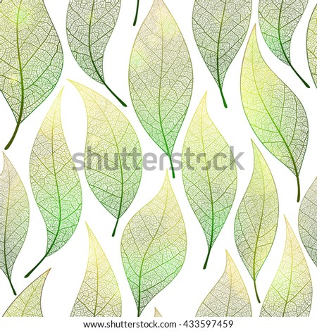 Seamless colorful leaves pattern. Vector, EPS10.