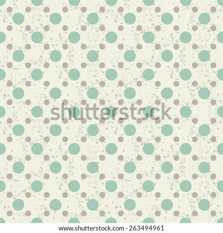 seamless colorful polka dots pattern - stock vector