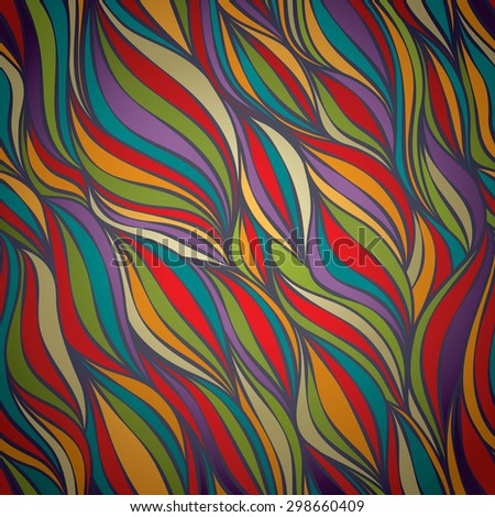 Seamless Colorful Seamless WAVE pattern, can be used for wallpaper, pattern fills, web page background,surface textures etc. - stock vector