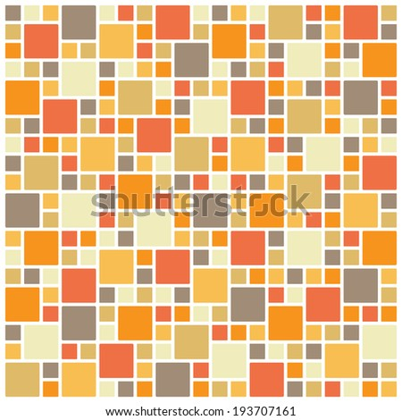 Seamless colorful square tiles pattern - stock vector