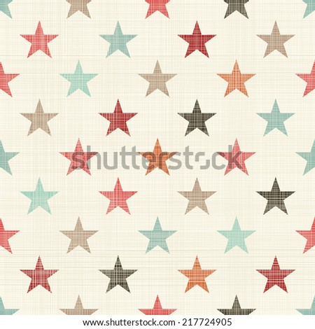 seamless colorful stars pattern - stock vector
