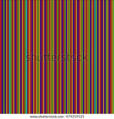 Seamless colorful vertical lines pattern background.