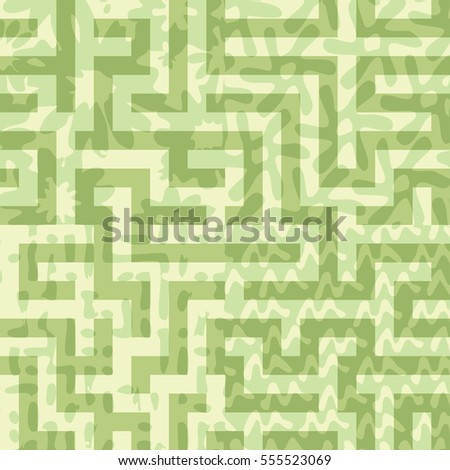Seamless combined flat color patterns background tile