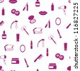 seamless cosmetics pattern - stock vector