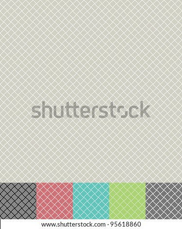 seamless cross hatch pattern background with color variations - stock vector