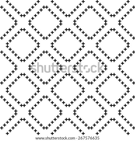 Seamless Cross Pattern - stock vector