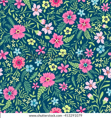 Seamless pink floral pattern - photo#51