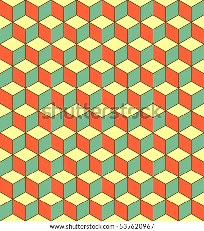 Seamless 3 D Cube Pattern Abstract Minimal Stock Photo (Photo ...