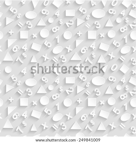 Seamless 3d vector of geometric shapes and figures. - stock vector