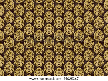 Seamless Damask floral background pattern. Vector illustration