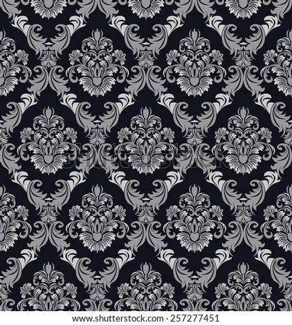 Seamless damask ornate Wallpaper for design - stock vector