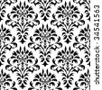 seamless damask pattern - stock photo