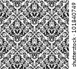Seamless damask pattern background for wallpaper design. Jpeg version also available in gallery - stock photo