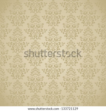 seamless damask pattern. eps10 - stock vector