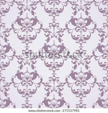 Seamless damask pattern. Ornamental background with lace pattern - stock vector