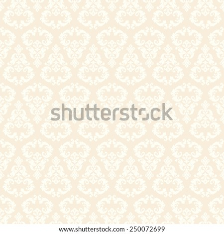Seamless damask pattern. Ornamental background with pattern - stock vector