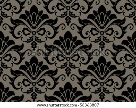 Seamless Damask Pattern - Vector - stock vector