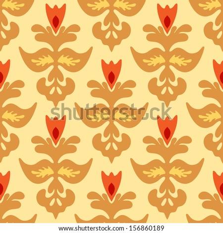Seamless Damask Pattern Vector Tiles - stock vector