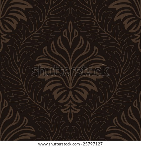 Seamless Damask Web Background - stock vector