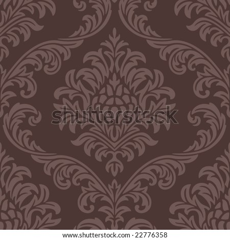 Seamless Damask Web Pattern - stock vector