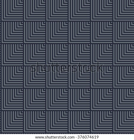 Seamless dark blue abstract modern pattern created from rectangle intersections