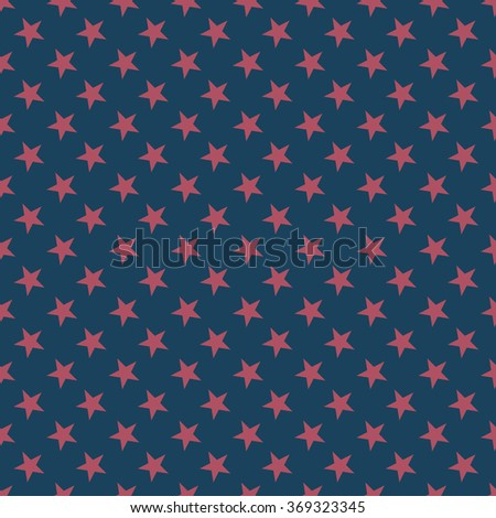 Seamless dark blue and burgundy stars pattern vector