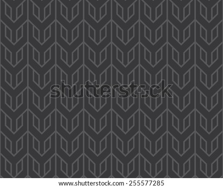Seamless dark gray overlocking tribal pattern vector - stock vector