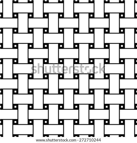 Seamless Dark Gray Woven Pattern Vector Stock Vector