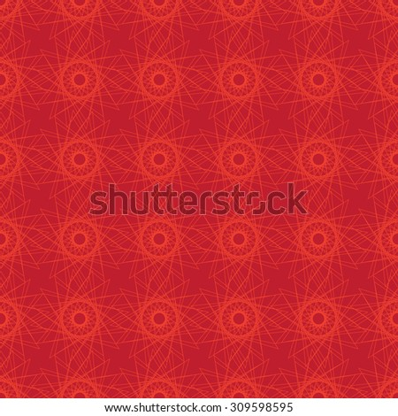 Seamless decorative background of linear geometric shapes