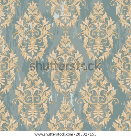 Seamless decorative damask floral pattern. Royal wallpaper. Floral background best for invitations or announcements. Elegant grunge luxury texture for wallpapers, backgrounds and page fill.