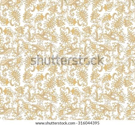 Seamless decorative pattern - stock vector