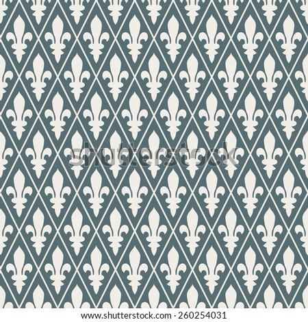 Seamless denim blue medieval diamond pattern vector - stock vector
