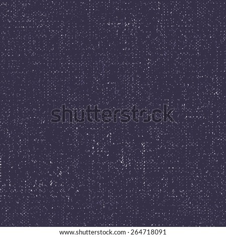 Seamless denim texture. Dark blue vector canvas background.  - stock vector